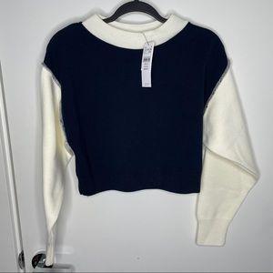 NWT colour block semi cropped sweater